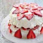 Strawberry Shortcake with Almond Glaze