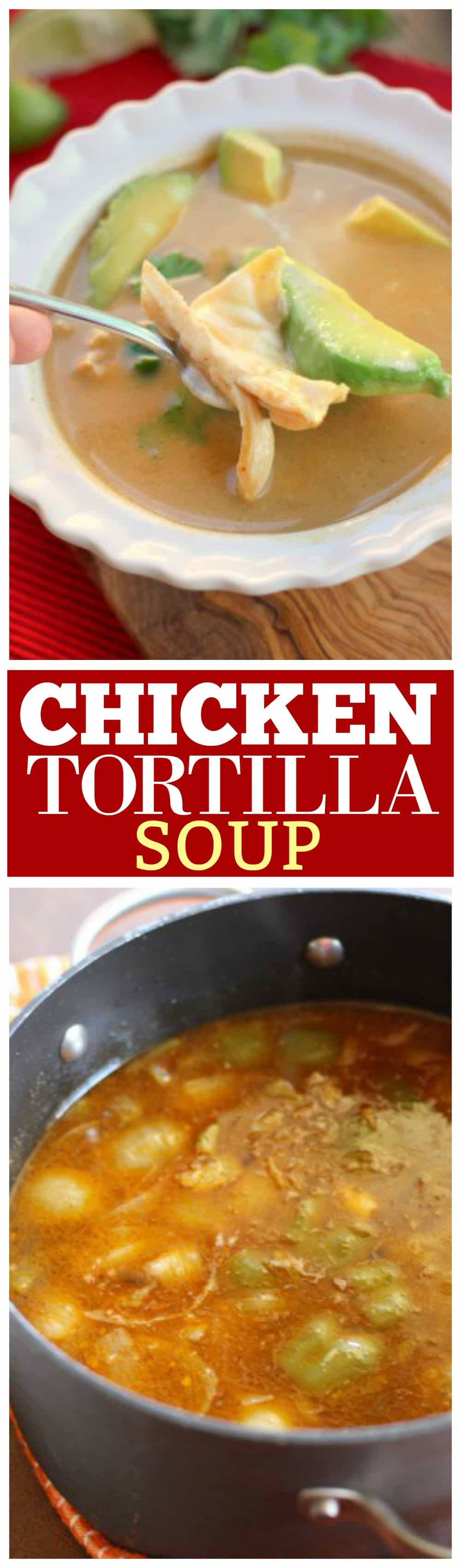 Chicken Tortilla Soup - A knock-off from the famous soup at Tommy Bahamas. We were licking our bowls. {The Girl Who Ate Everything}