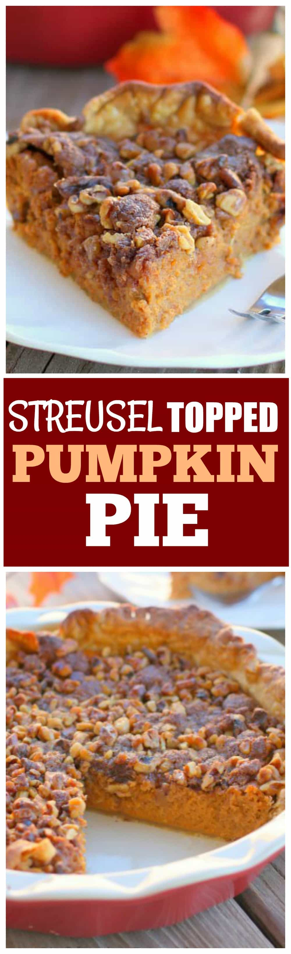 This Streusel Topped Pumpkin Pie is a your classic pumpkin pie with a streusel topping to make it a little fancier. the-girl-who-ate-everything.com