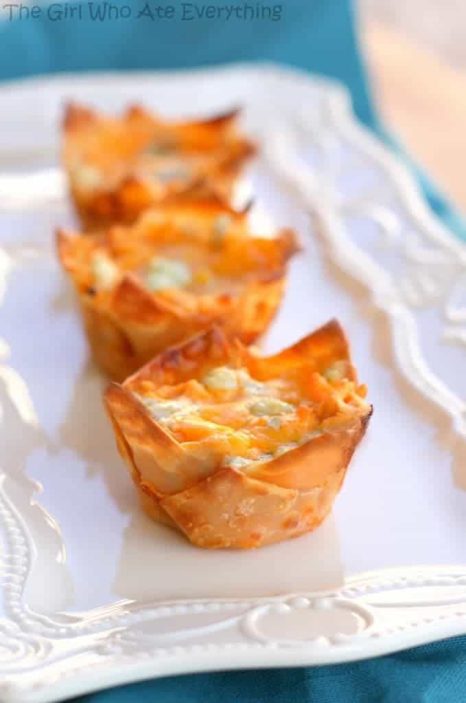 Buffalo Chicken Cupcakes | The Girl Who Ate Everything
