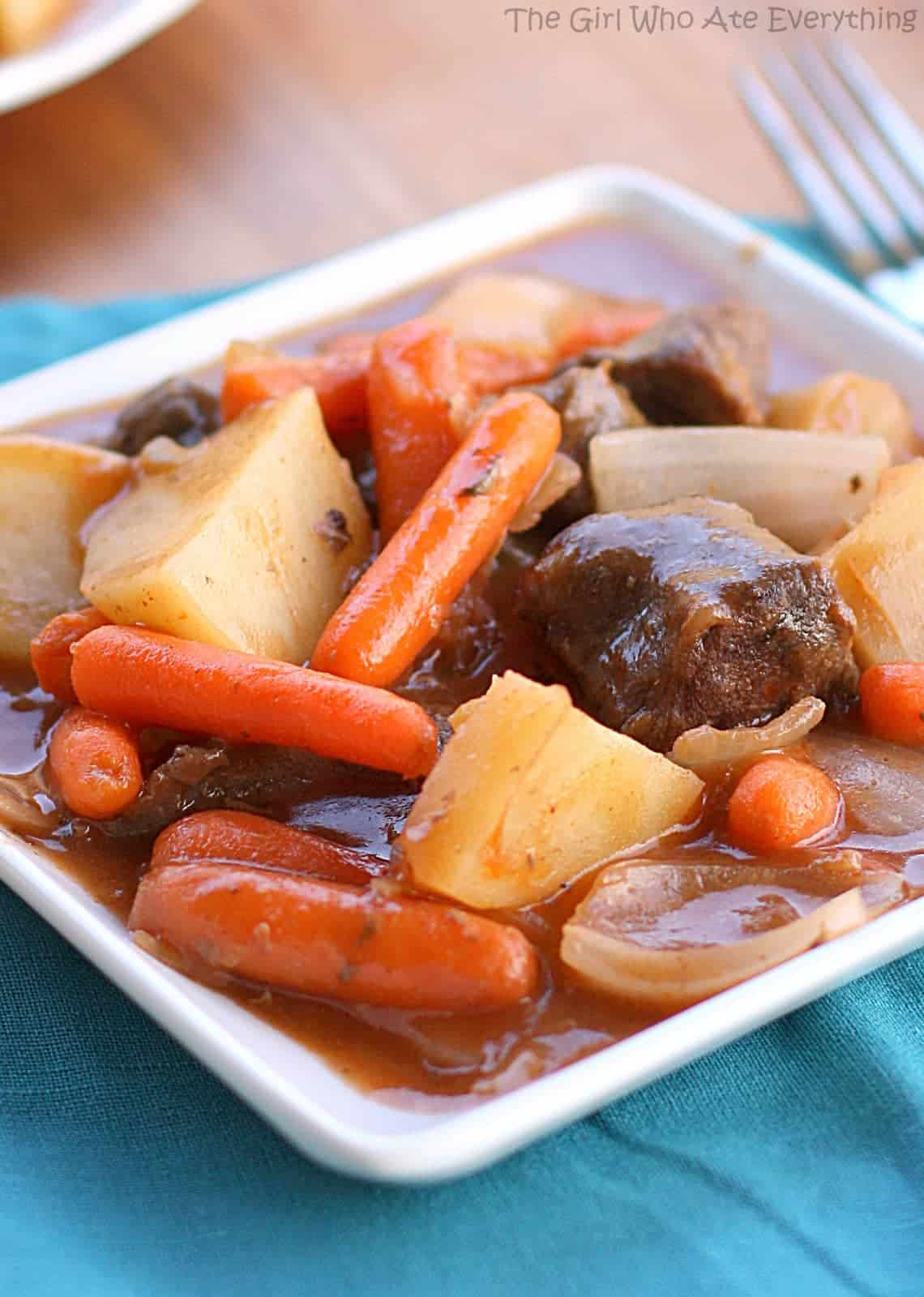 Oven Baked Stew - an old favorite we love! the-girl-who-ate-everything.com