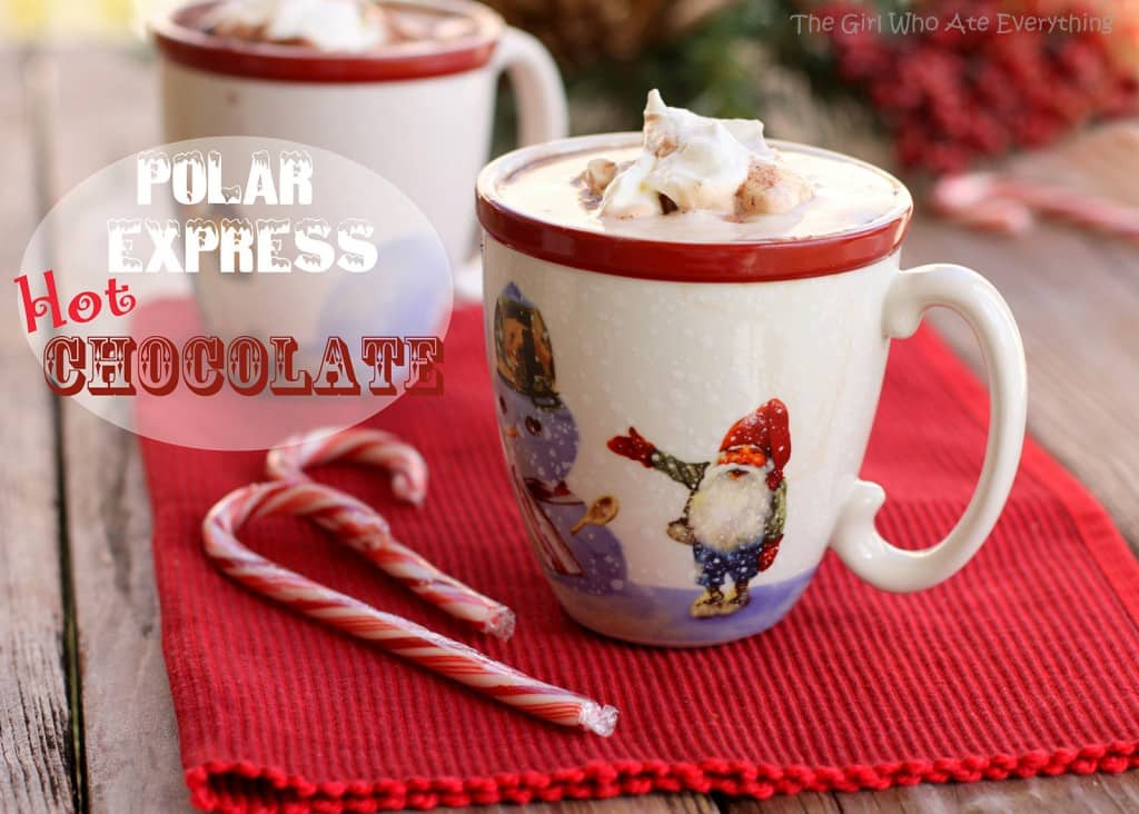 Polar Express Hot Chocolate - creamy, sweet chocolate perfect for Christmas!