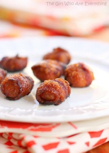Bacon Wrapped Water Chestnuts Rumaki
