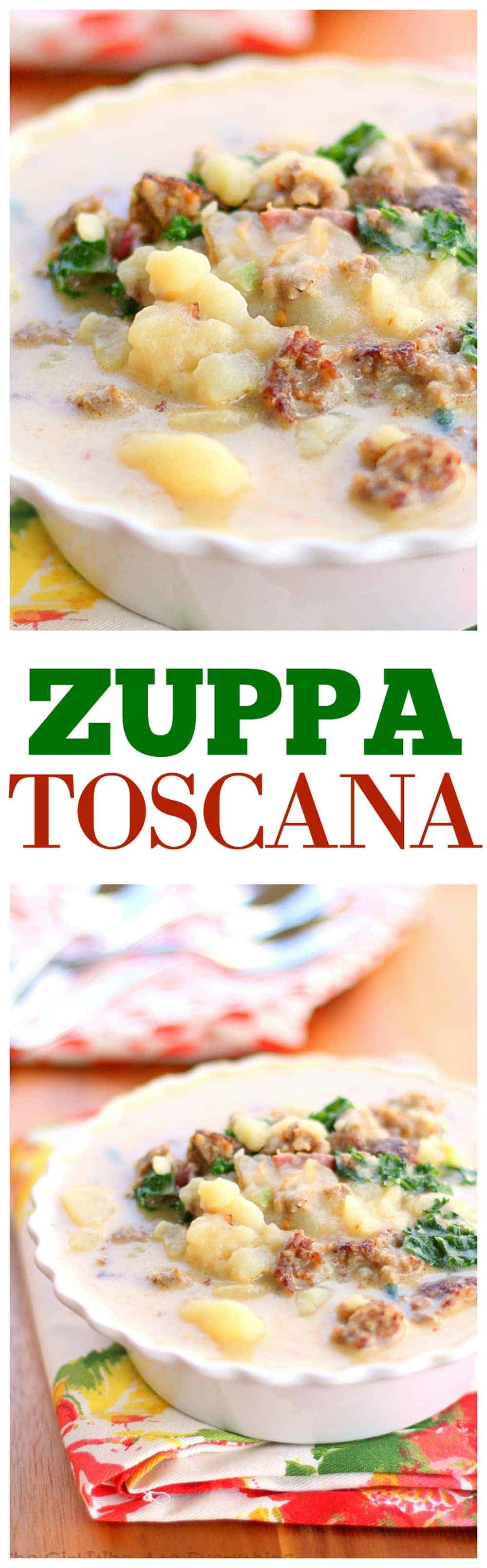 Zuppa Toscana - A copycat version of the hearty Olive Garden soup.