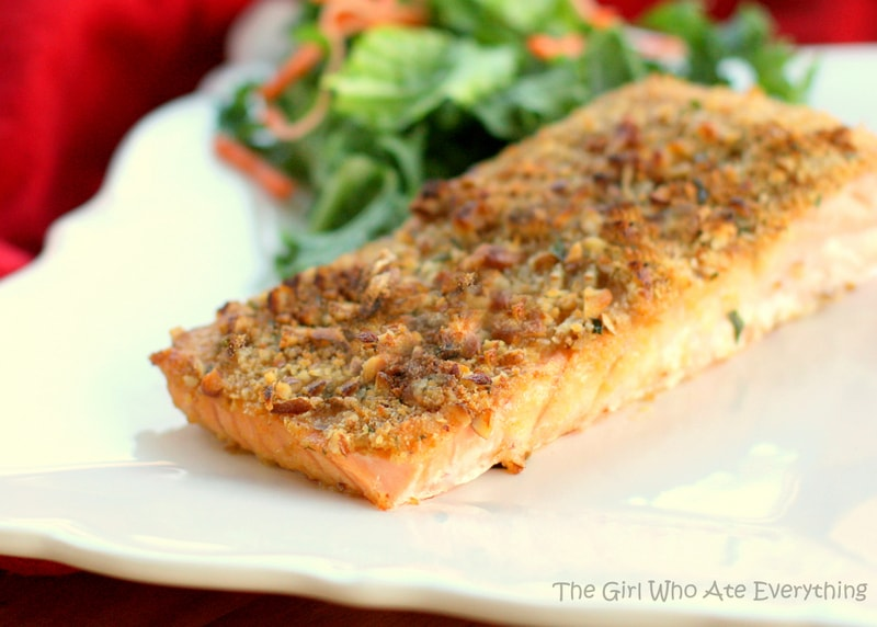 Baked Dijon Salmon - The Girl Who Ate Everything