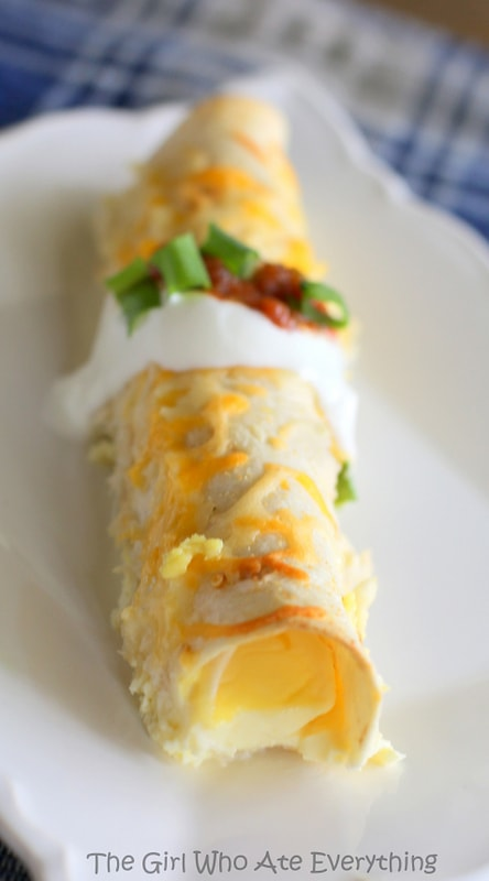 Ham and Cheese Breakfast Enchiladas - the-girl-who-ate-everything.com