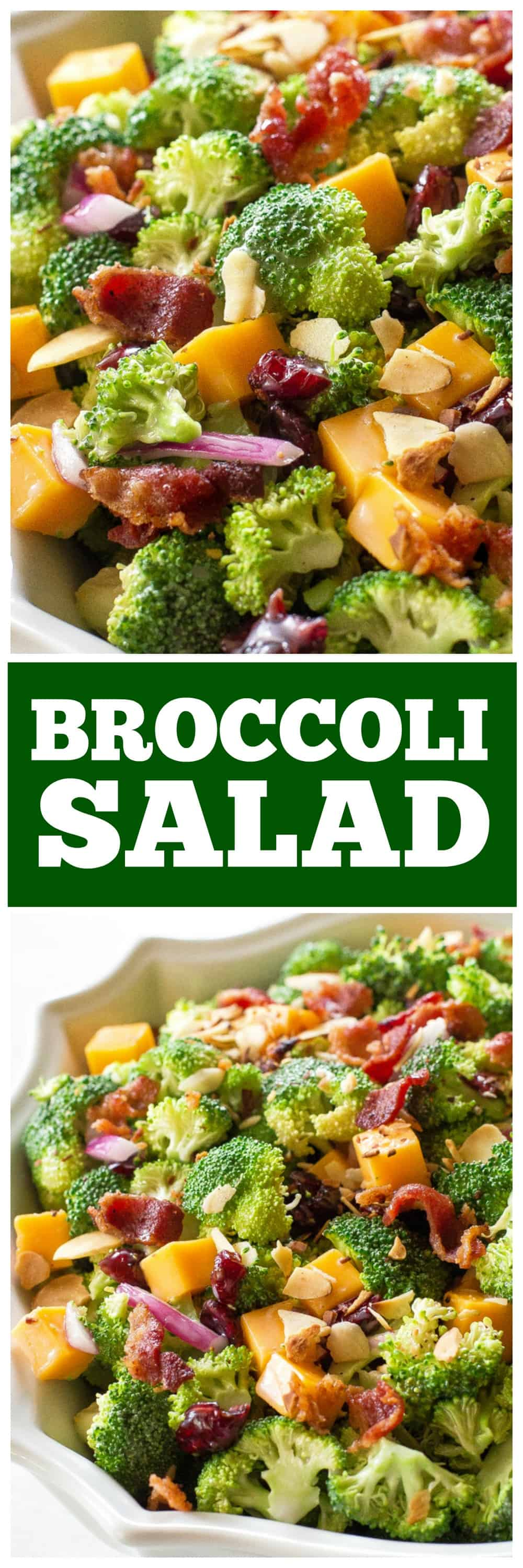 Broccoli Salad in a bowl