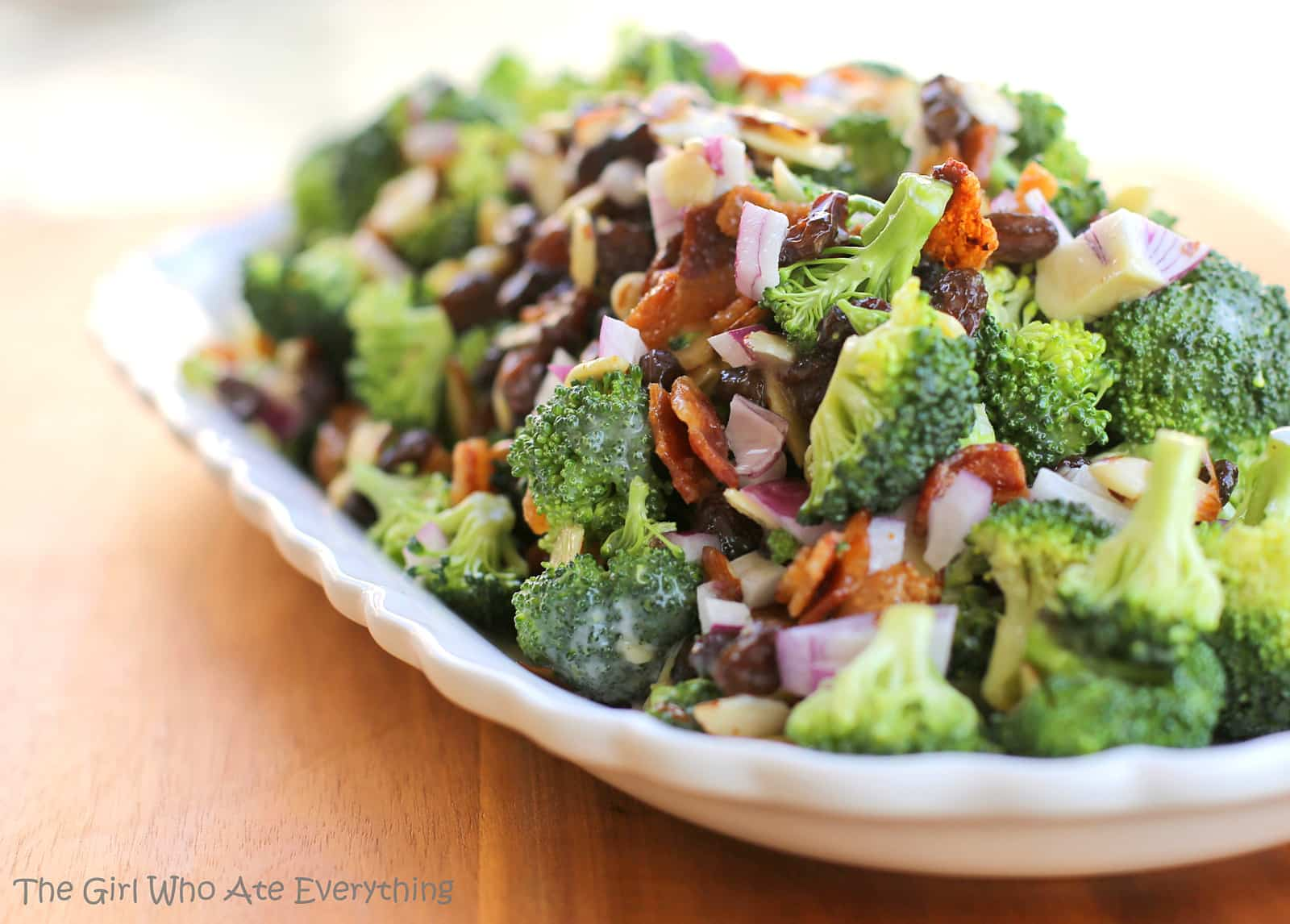 Broccoli Salad Recipe Bacon Red Wine Vinegar