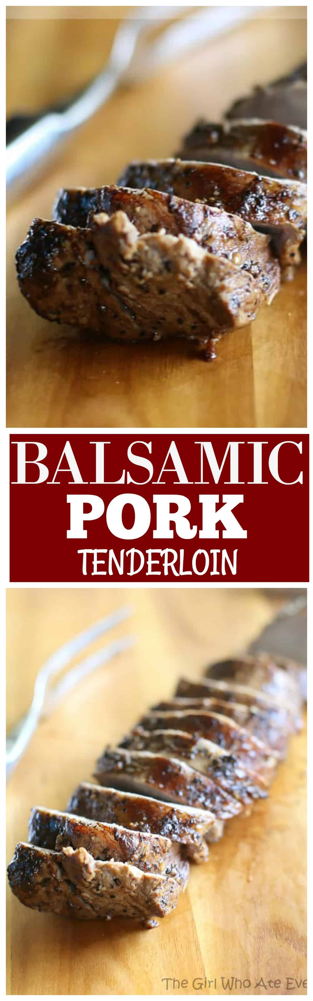 This Balsamic Roasted Pork Loin is a tender, juicy, and healthy that is company worthy.