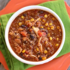 crockpot chicken quinoa chili