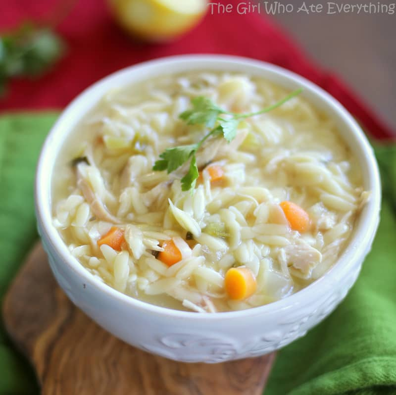 recipe: creamy chicken orzo soup [7]