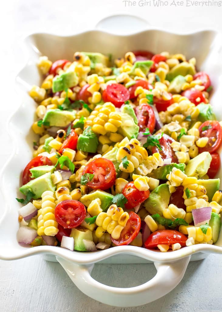 Corn Avocado and Tomato Salad