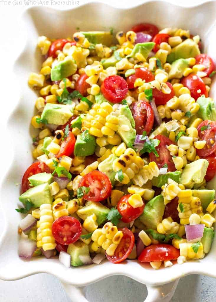 Corn, Avocado, and Tomato Salad - a healthy and light salad perfect ...