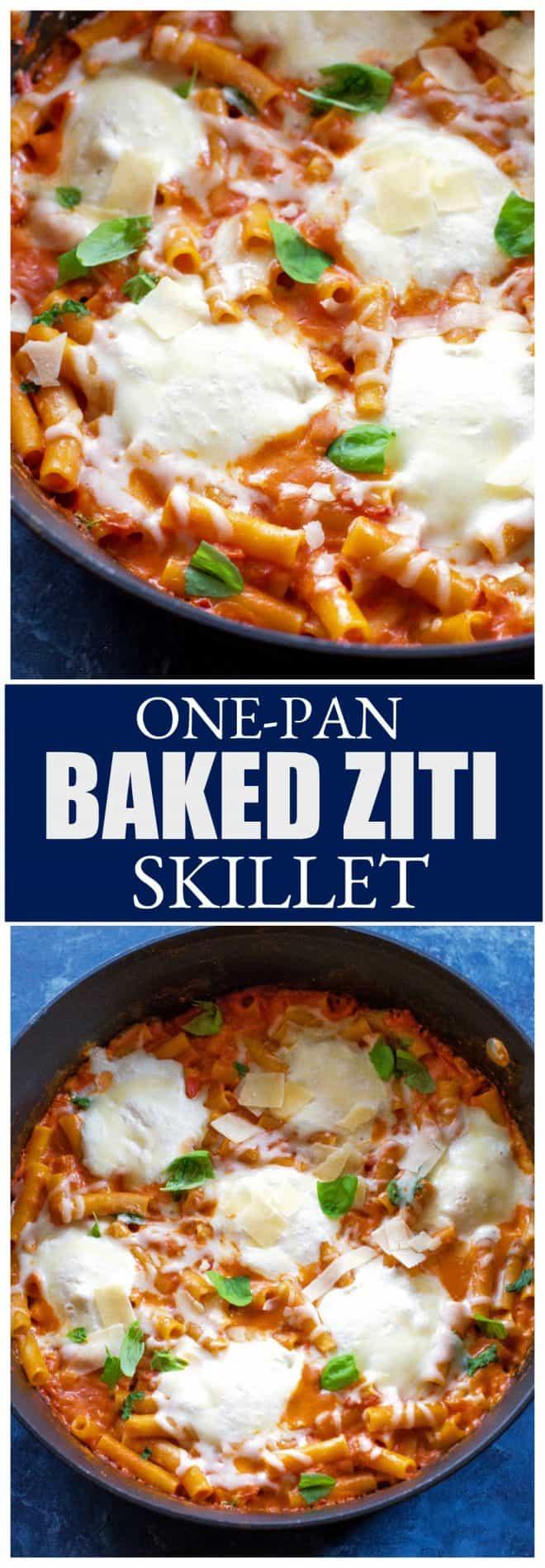 One-Pan Baked Ziti Skillet