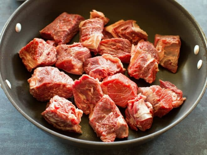 chunks of beef
