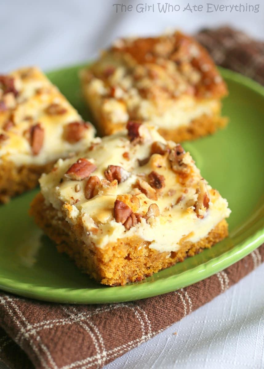 Recipes for pumpkin cheesecake bars