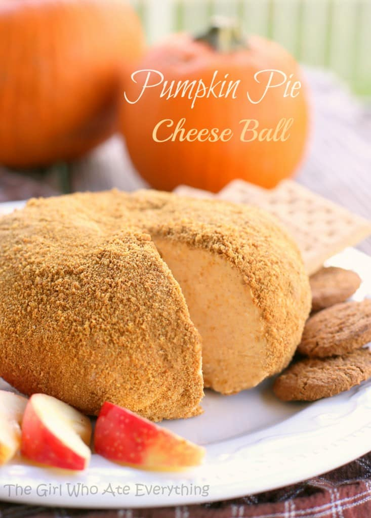 "This Pumpkin Pie ""Cheese"" Ball tastes just like pumpkin pie!"