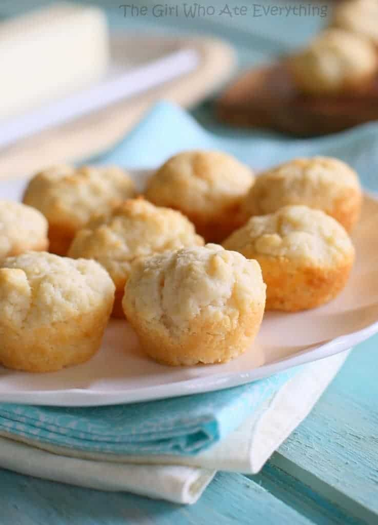These Mini Sour Cream Biscuits are melt in your mouth and so easy!
