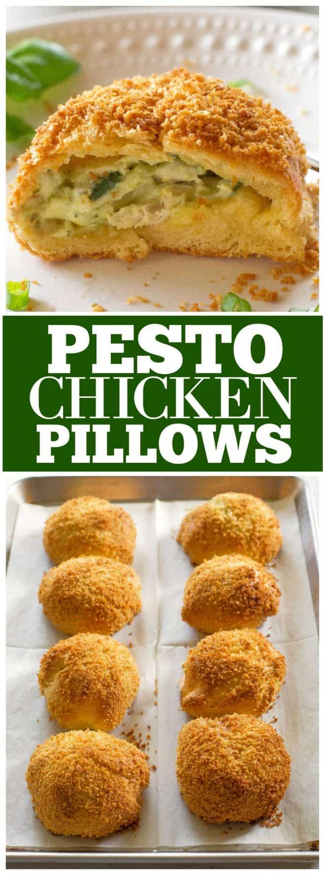 Pesto Chicken Pillows