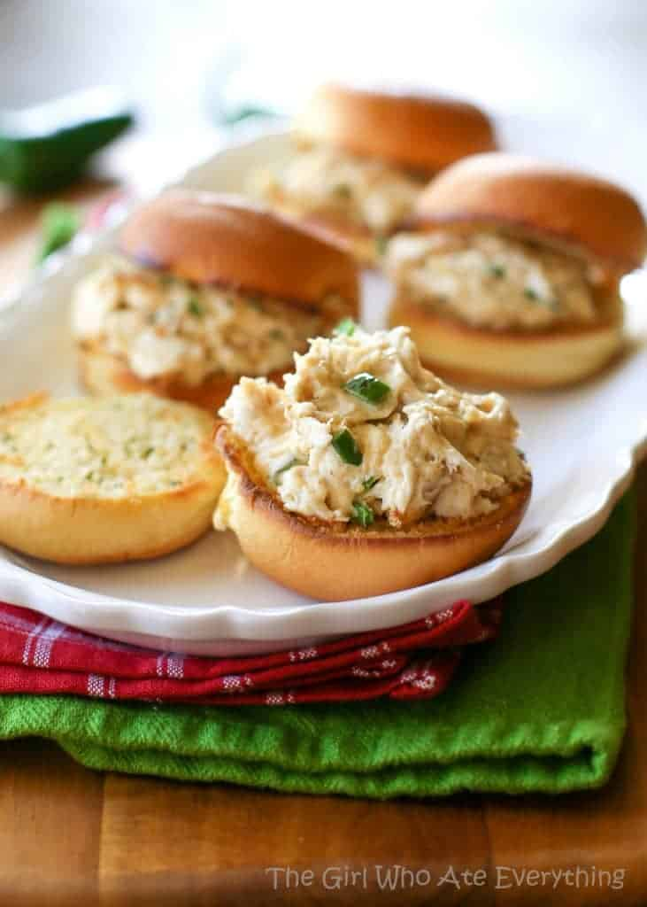 Jalapeno Popper Chicken Sliders   The Girl Who Ate Everything