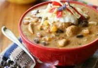 Spicy Chicken Enchilada Soup