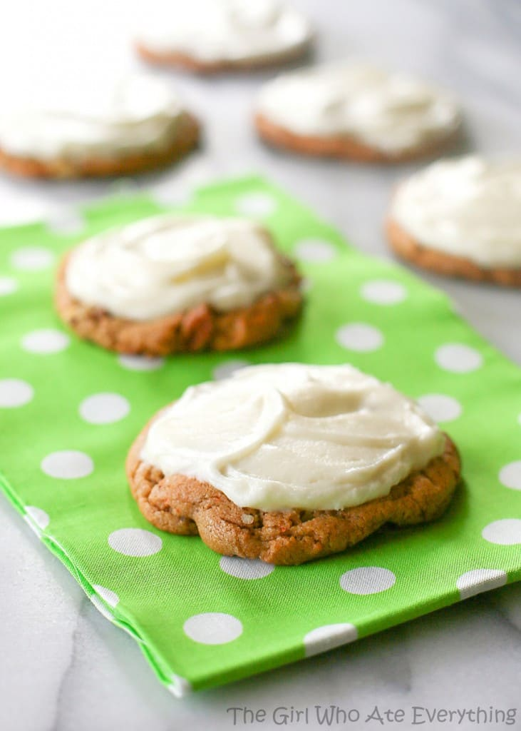 Chewy Carrot Cake Cookies | The Girl Who Ate Everything