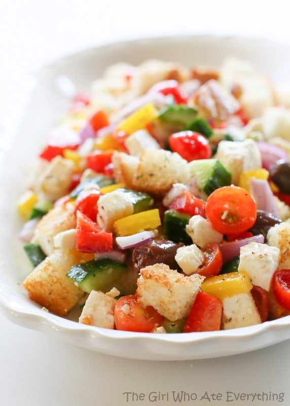 Greek Panzanella Salad   The Girl Who Ate Everything