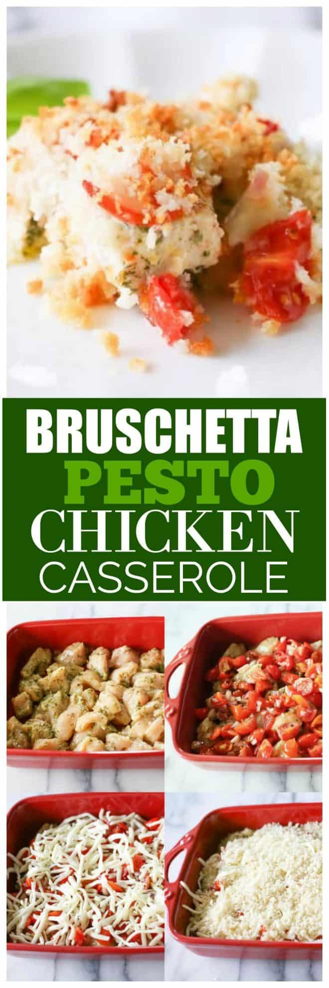 Bruschetta Pesto Chicken Casserole