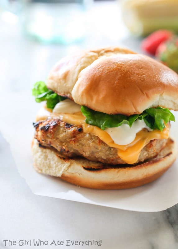 Cheddar Chicken Ranch Burgers | The Girl Who Ate Everything
