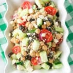 Greek Garbanzo Bean Salad | The Girl Who Ate Everything