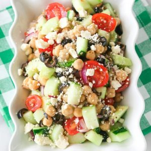 Greek Garbanzo Bean Salad | The Girl Who Ate Everything