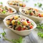 Mango Black Bean Chicken Quinoa Bowls | The Girl Who Ate Everything