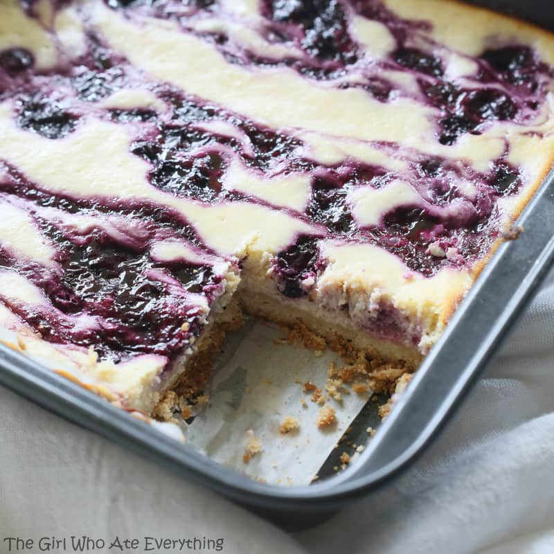 Blueberry Lemon Cheesecake Bars - summer flavors with a shortbread ...