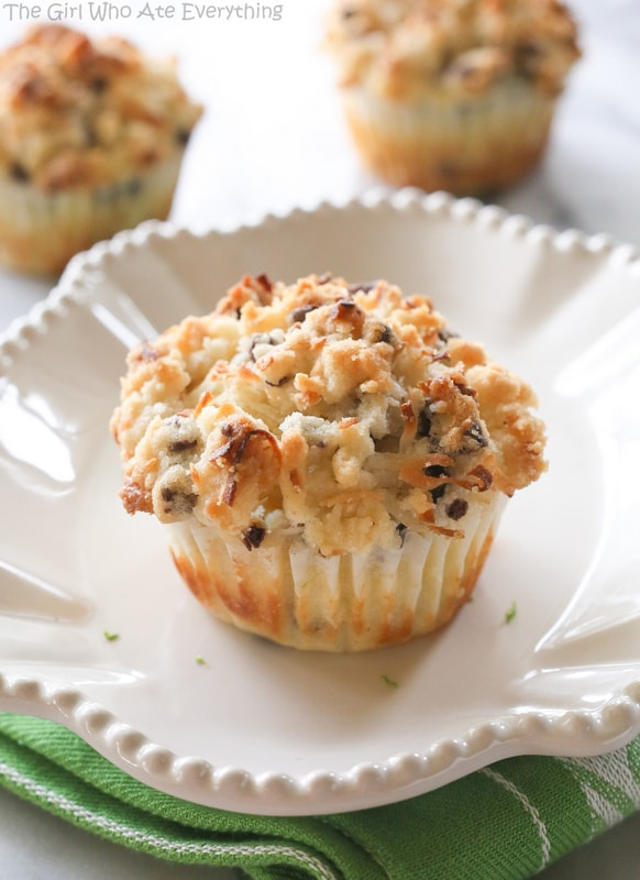 Coconut Lime Chocolate Chip Muffins   The Girl Who Ate Everything