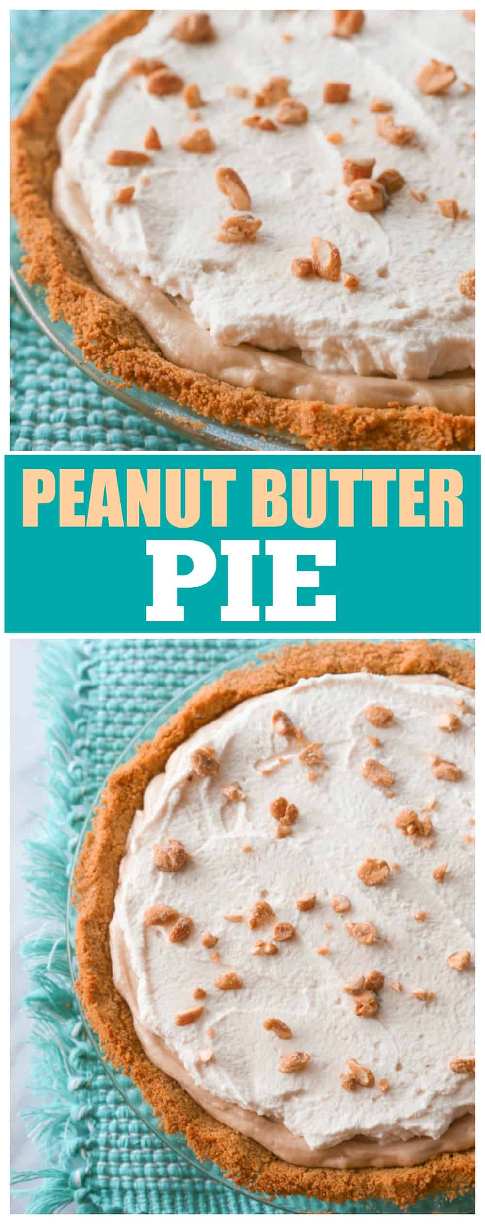 This Peanut Butter Pie recipe has a rich peanut butter flavor with honey roasted nuts and a graham cracker crust. the-girl-who-ate-everything.com