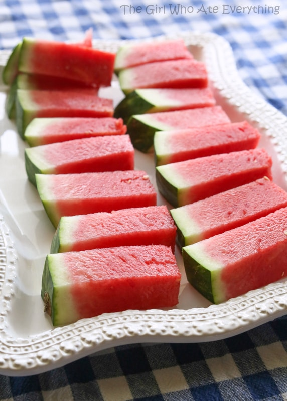 How to Cut A Watermelon Into Sticks