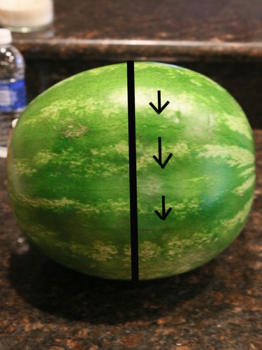 How to Cut A Watermelon Into Sticks the-girl-who-ate-everything.com