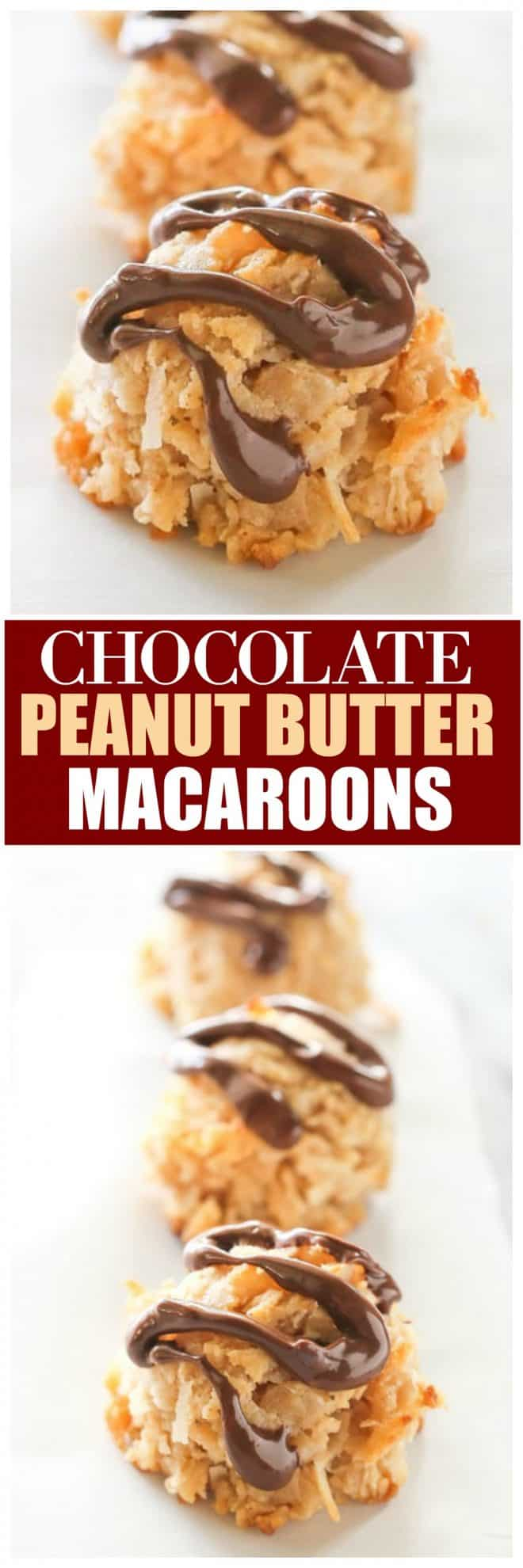 Chocolate Peanut Butter Macaroons