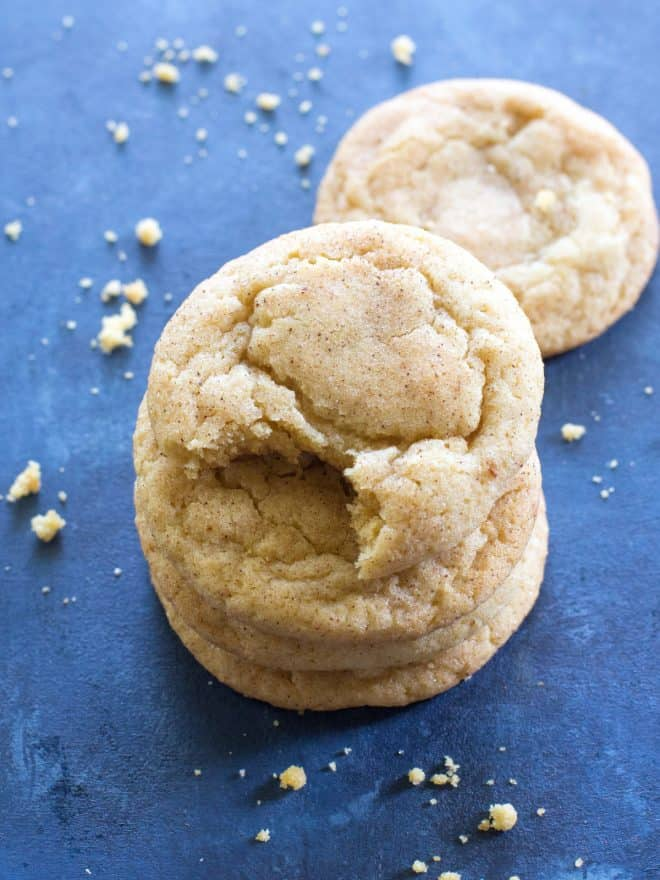 snickerdoodle cookies with a bite