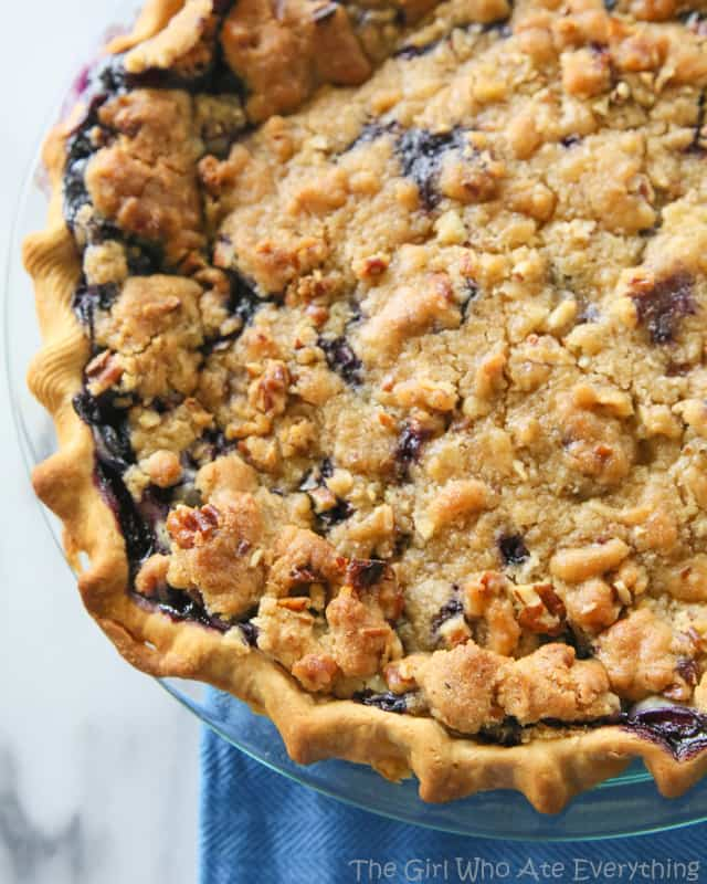 Blueberry Custard Pie | The Girl Who Ate Everything. A creamy blueberry custard topped with a sweet streusel. the-girl-who-ate-everything.com