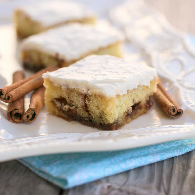 Cinnamon Roll Sheet Cake | The Girl Who Ate Everything Cookbook