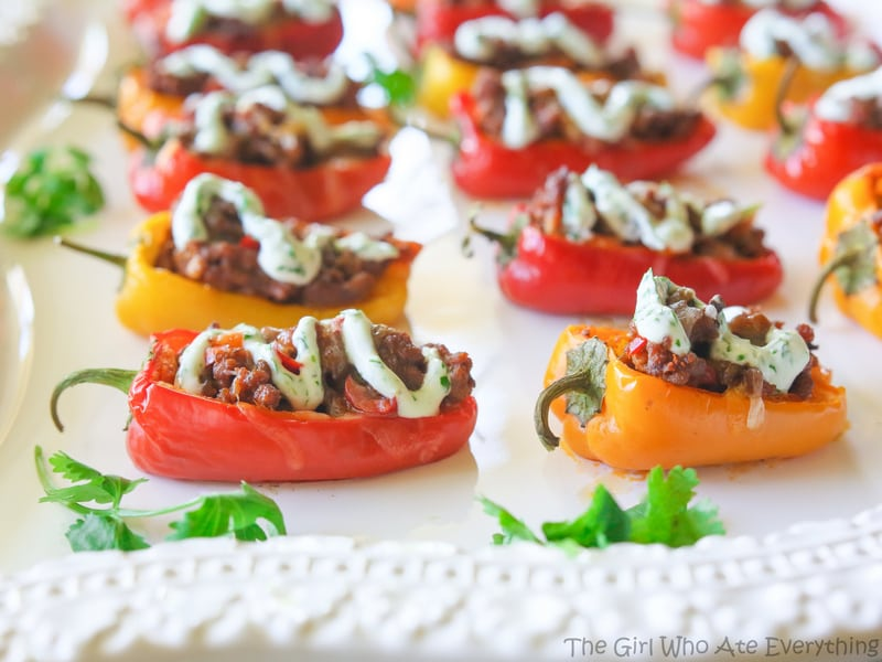 Mini Taco Stuffed Peppers