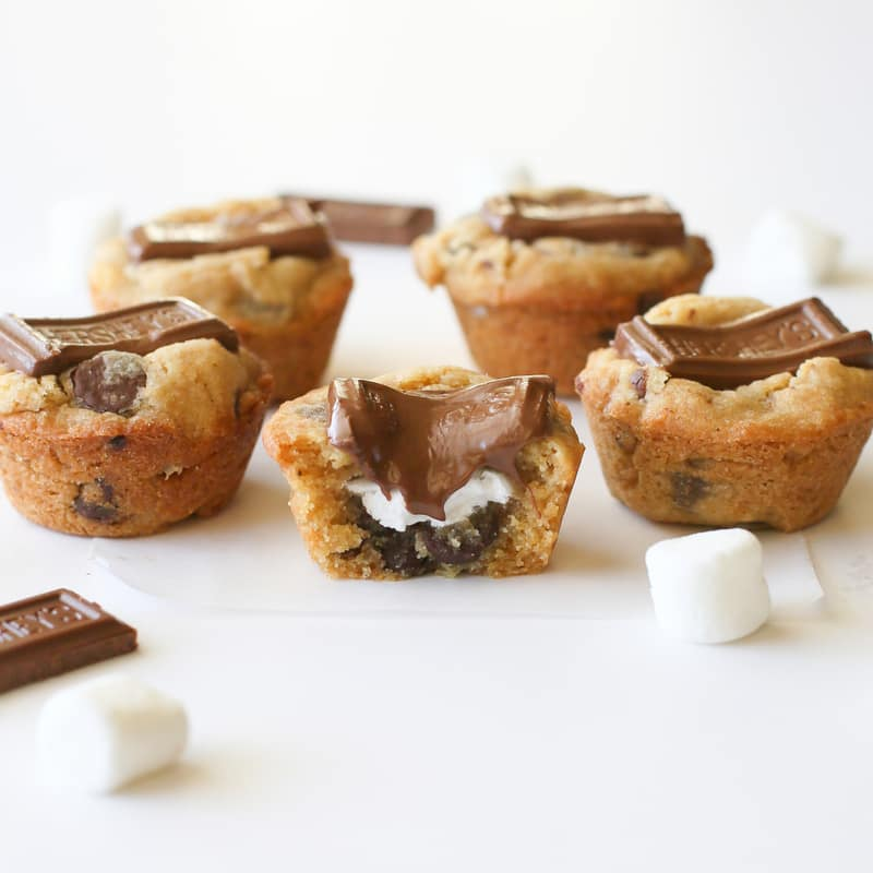 S'mores Cookie Cups | The Girl Who Ate Everything Cookbook