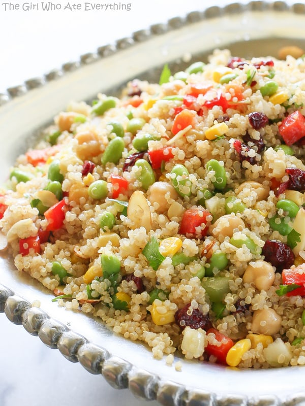 Edamame Quinoa Salad | The Girl Who Ate Everything