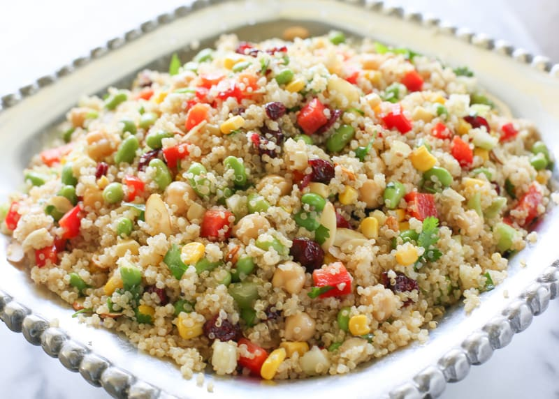 Edamame Quinoa Salad | The Girl Who Ate Everything