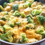 One-Pan Cheesy Chicken, Broccoli, and Rice - an easy dinner that the whole family will love.
