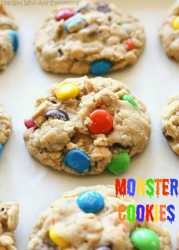 monster cookies with m&ms