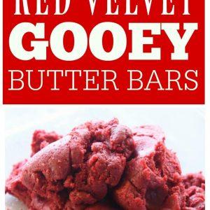 Red Velvet Gooey Butter Bars - The Girl Who Ate Everything