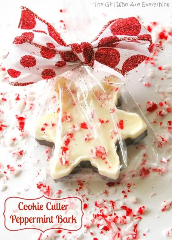Cookie Cutter Peppermint Bark - Bake, Craft, Sew