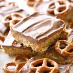 Chocolate Peanut Butter Pretzel Ritz Bars